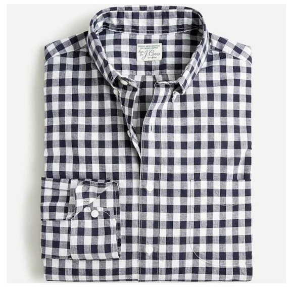 J.Crew Mens Button Down Shirt In Gingham